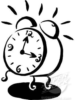 Alarm clock 5am clipart