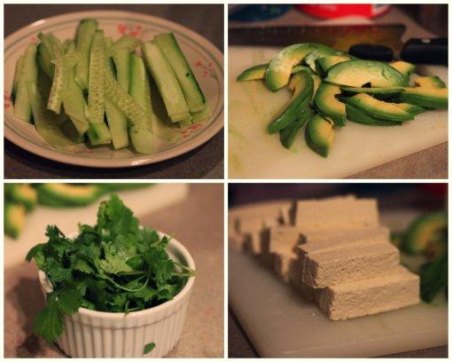 veggies for spring rolls