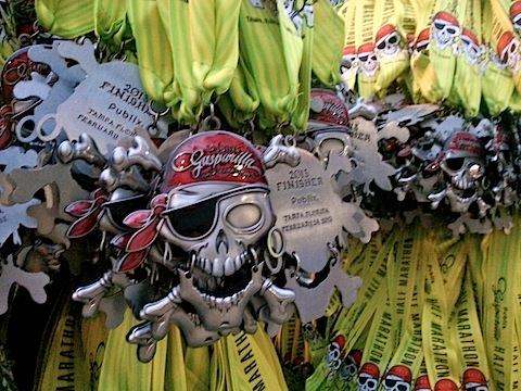 Gasparilla Half Marathon Medal 2013