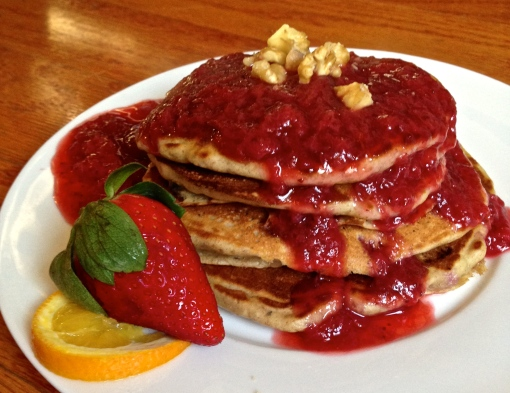 Strawberry Orange Walnut Pancake