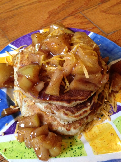 apple cheddar pancakes 1