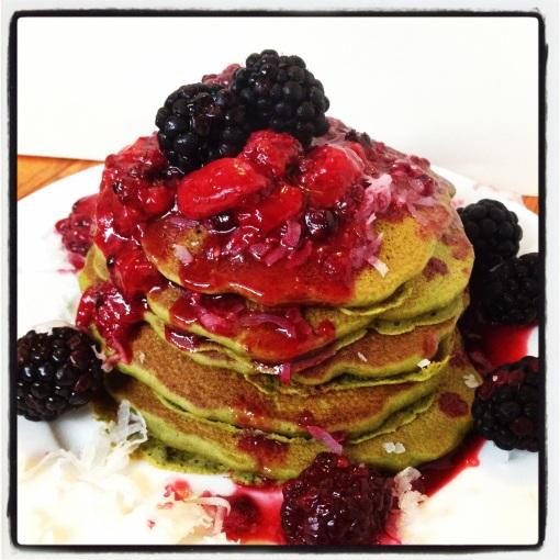 green tea pancakes