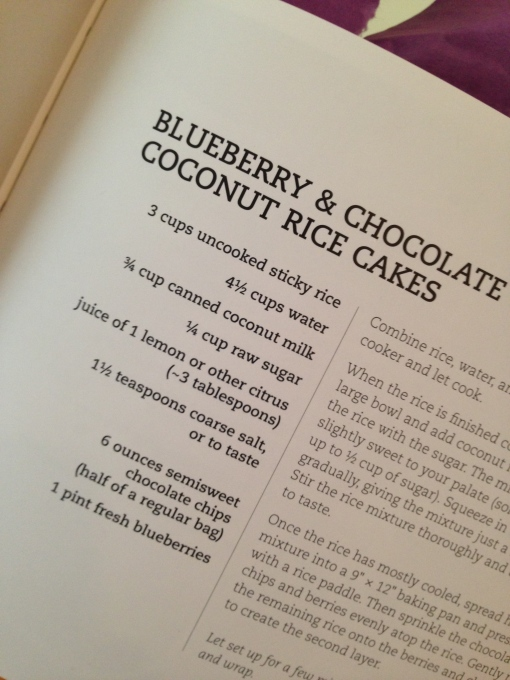 Blueberry Chocolate coconut rice cakes