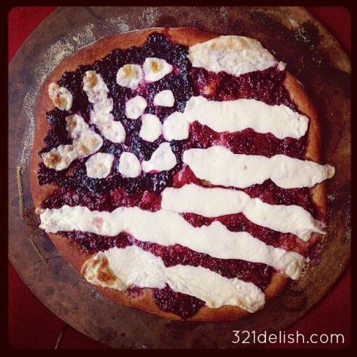 patriotic pizza done